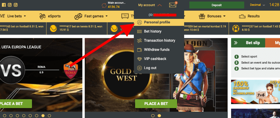 Withdraw money from Melbet